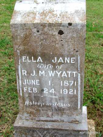 WYATT, ELLA JANE - Randolph County, Arkansas | ELLA JANE WYATT - Arkansas Gravestone Photos
