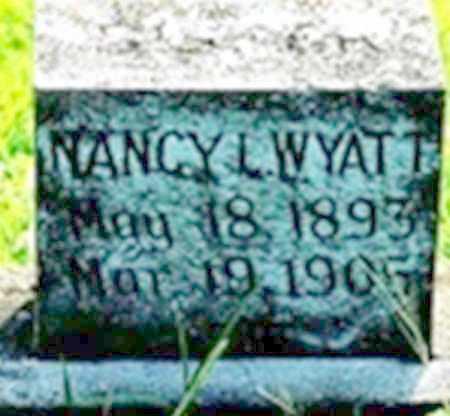 WYATT, NANCY L - Randolph County, Arkansas | NANCY L WYATT - Arkansas Gravestone Photos