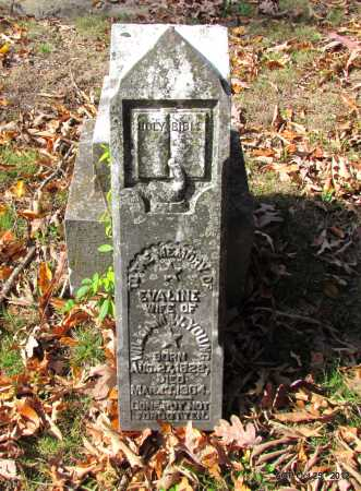 HASKINS YOUNG, EVALINE - Randolph County, Arkansas | EVALINE HASKINS YOUNG - Arkansas Gravestone Photos