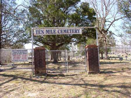 * TEN MILE  CEMETERY, ENTRANCE PHOTO AND DIRECTIONS - Saline County, Arkansas | ENTRANCE PHOTO AND DIRECTIONS * TEN MILE  CEMETERY - Arkansas Gravestone Photos