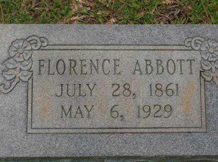 ABBOTT, FLORENCE - Saline County, Arkansas | FLORENCE ABBOTT - Arkansas Gravestone Photos