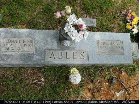 ABLES, SR., LONNIE E. - Saline County, Arkansas | LONNIE E. ABLES, SR. - Arkansas Gravestone Photos