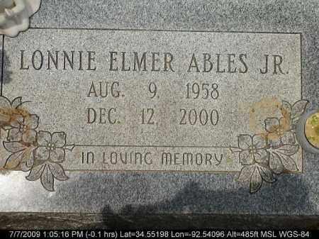 ABLES, JR., LONNIE ELMER - Saline County, Arkansas | LONNIE ELMER ABLES, JR. - Arkansas Gravestone Photos
