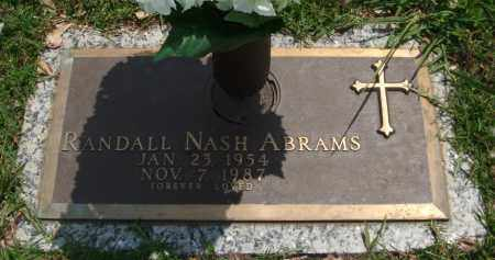 ABRAMS, RANDALL NASH - Saline County, Arkansas | RANDALL NASH ABRAMS - Arkansas Gravestone Photos