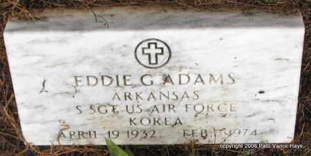 ADAMS (VETERAN KOR), EDDIE G - Saline County, Arkansas | EDDIE G ADAMS (VETERAN KOR) - Arkansas Gravestone Photos