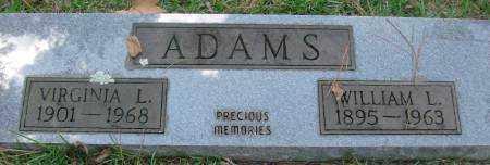 ADAMS, WILLIAM L - Saline County, Arkansas | WILLIAM L ADAMS - Arkansas Gravestone Photos