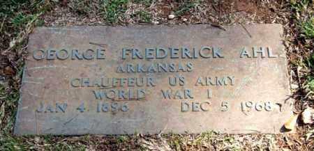 AHL (VETERAN WWI), GEORGE FREDERICK - Saline County, Arkansas | GEORGE FREDERICK AHL (VETERAN WWI) - Arkansas Gravestone Photos