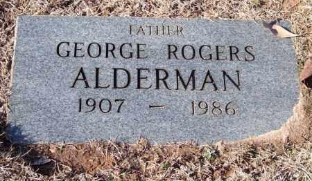 ALDERMAN, GEORGE ROGERS - Saline County, Arkansas   GEORGE ROGERS ALDERMAN - Arkansas Gravestone Photos