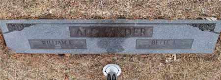 ALEXANDER, WILLIAM E. - Saline County, Arkansas | WILLIAM E. ALEXANDER - Arkansas Gravestone Photos