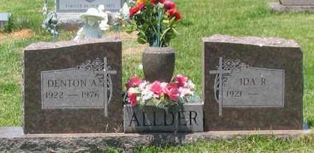 ALLDER, DENTON A. - Saline County, Arkansas | DENTON A. ALLDER - Arkansas Gravestone Photos