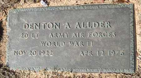 ALLDER (VETERAN WWII), DENTON A - Saline County, Arkansas   DENTON A ALLDER (VETERAN WWII) - Arkansas Gravestone Photos