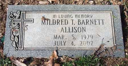 BARNETT ALLISON, MILDRED T. - Saline County, Arkansas | MILDRED T. BARNETT ALLISON - Arkansas Gravestone Photos