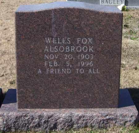 ALSOBROOK, WELLS FOX - Saline County, Arkansas | WELLS FOX ALSOBROOK - Arkansas Gravestone Photos