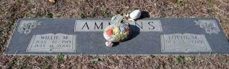 AMMONS, WILLIE M. - Saline County, Arkansas   WILLIE M. AMMONS - Arkansas Gravestone Photos