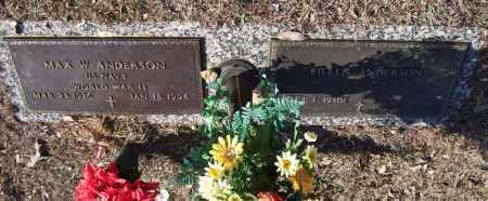 ANDERSON (VETERAN WWII), MAX W - Saline County, Arkansas | MAX W ANDERSON (VETERAN WWII) - Arkansas Gravestone Photos