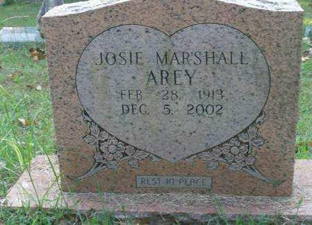AREY, JOSIE MARSHALL - Saline County, Arkansas | JOSIE MARSHALL AREY - Arkansas Gravestone Photos