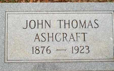 ASHCRAFT, JOHN THOMAS - Saline County, Arkansas   JOHN THOMAS ASHCRAFT - Arkansas Gravestone Photos