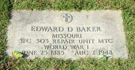 BAKER (VETERAN WWI), EDWARD D - Saline County, Arkansas   EDWARD D BAKER (VETERAN WWI) - Arkansas Gravestone Photos