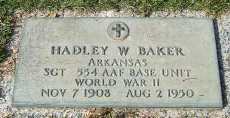 BAKER (VETERAN WWII), HADLEY W - Saline County, Arkansas | HADLEY W BAKER (VETERAN WWII) - Arkansas Gravestone Photos