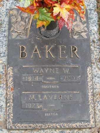 BAKER, WAYNE W. - Saline County, Arkansas | WAYNE W. BAKER - Arkansas Gravestone Photos
