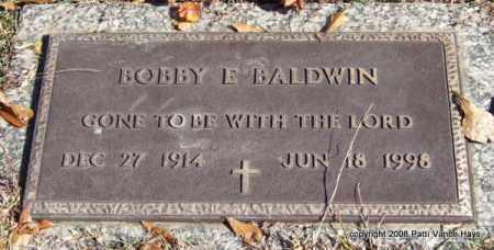 BALDWIN, BOBBY E. - Saline County, Arkansas | BOBBY E. BALDWIN - Arkansas Gravestone Photos