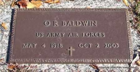BALDWIN (VETERAN), O. R. - Saline County, Arkansas   O. R. BALDWIN (VETERAN) - Arkansas Gravestone Photos