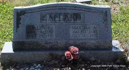 BALLARD, MARTHA A. - Saline County, Arkansas | MARTHA A. BALLARD - Arkansas Gravestone Photos