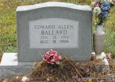 BALLARD, EDWARD ALLEN - Saline County, Arkansas | EDWARD ALLEN BALLARD - Arkansas Gravestone Photos