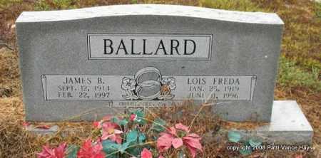 COLLINS BALLARD, LOIS FREDA - Saline County, Arkansas | LOIS FREDA COLLINS BALLARD - Arkansas Gravestone Photos