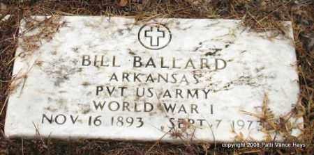 BALLARD (VETERAN WWI), WILLIAM E - Saline County, Arkansas | WILLIAM E BALLARD (VETERAN WWI) - Arkansas Gravestone Photos
