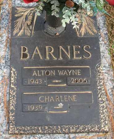 BARNES, ALTON WAYNE - Saline County, Arkansas   ALTON WAYNE BARNES - Arkansas Gravestone Photos
