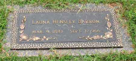 HENSLEY BARRON, LAUNA - Saline County, Arkansas | LAUNA HENSLEY BARRON - Arkansas Gravestone Photos
