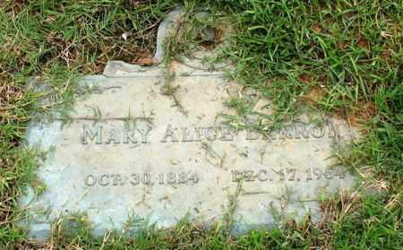 BARRON, MARY ALICE - Saline County, Arkansas | MARY ALICE BARRON - Arkansas Gravestone Photos