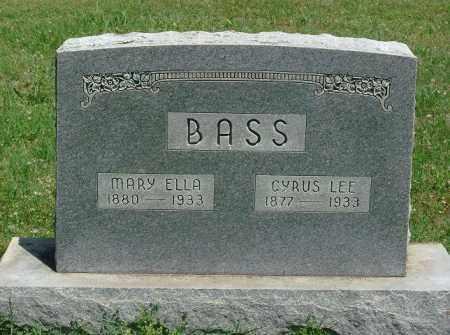 BASS, CYRUS LEE - Saline County, Arkansas | CYRUS LEE BASS - Arkansas Gravestone Photos