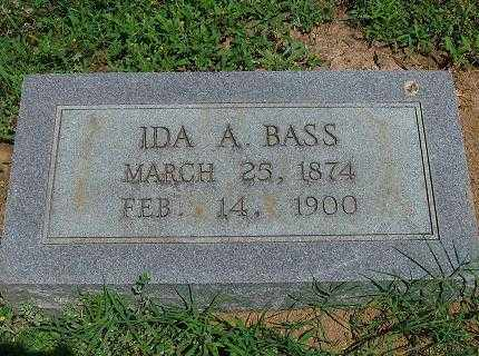 BASS, IDA A - Saline County, Arkansas | IDA A BASS - Arkansas Gravestone Photos