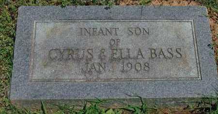 BASS, INFANT SON - Saline County, Arkansas | INFANT SON BASS - Arkansas Gravestone Photos