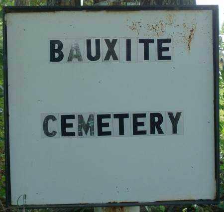 * BAUXITE CEMETERY, SIGN - Saline County, Arkansas   SIGN * BAUXITE CEMETERY - Arkansas Gravestone Photos