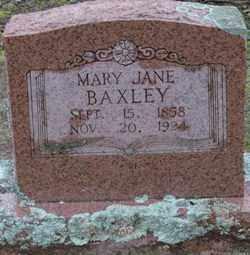 BAXLEY, MARY JANE - Saline County, Arkansas | MARY JANE BAXLEY - Arkansas Gravestone Photos