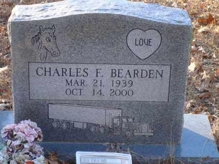 BEARDEN, CHARLES F - Saline County, Arkansas   CHARLES F BEARDEN - Arkansas Gravestone Photos