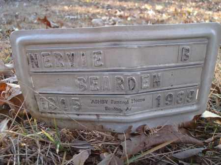 BEARDEN, NERVIE B - Saline County, Arkansas | NERVIE B BEARDEN - Arkansas Gravestone Photos