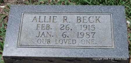 BECK, ALLIE R. - Saline County, Arkansas | ALLIE R. BECK - Arkansas Gravestone Photos
