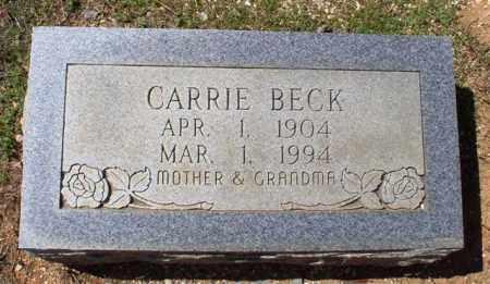 BECK, CARRIE - Saline County, Arkansas   CARRIE BECK - Arkansas Gravestone Photos