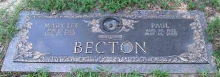 BECTON, PAUL - Saline County, Arkansas | PAUL BECTON - Arkansas Gravestone Photos