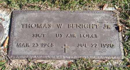 BENIGHT, JR. (VETERAN), THOMAS W - Saline County, Arkansas | THOMAS W BENIGHT, JR. (VETERAN) - Arkansas Gravestone Photos