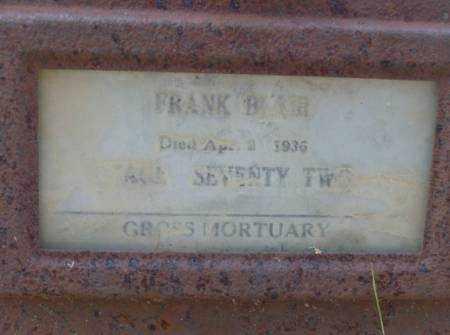 BLAIR, FRANK - Saline County, Arkansas | FRANK BLAIR - Arkansas Gravestone Photos