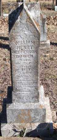 BOWEN, WILLIAM HENRY JEFFERSON - Saline County, Arkansas | WILLIAM HENRY JEFFERSON BOWEN - Arkansas Gravestone Photos