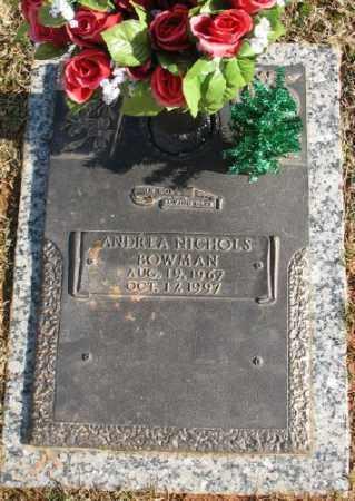 BOWMAN, ANDREA NICHOLS - Saline County, Arkansas   ANDREA NICHOLS BOWMAN - Arkansas Gravestone Photos