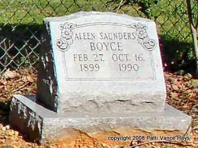 BOYCE, ALEEN - Saline County, Arkansas | ALEEN BOYCE - Arkansas Gravestone Photos