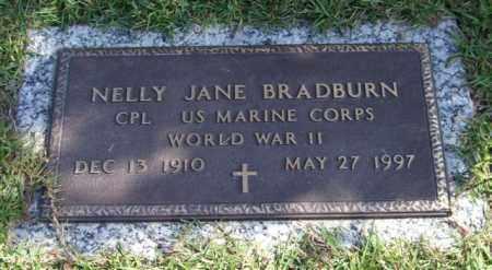BRADBURN (VETERAN WWII), NELLY JANE - Saline County, Arkansas | NELLY JANE BRADBURN (VETERAN WWII) - Arkansas Gravestone Photos