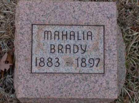 BRADY, MAHALIA - Saline County, Arkansas | MAHALIA BRADY - Arkansas Gravestone Photos